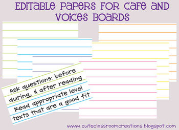 Cafe and Voices Lined Papers {FREEBIE}