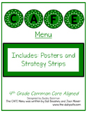 Cafe-themed CAFE Menu 4th CCSS Aligned