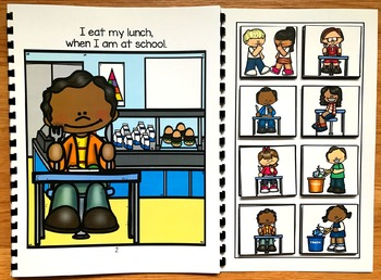 Cafeteria Behavior Adapted Book and Activities