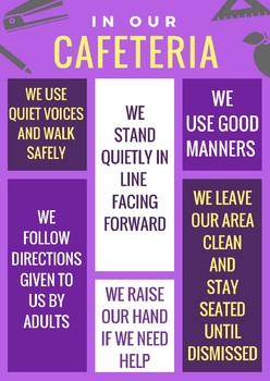 Cafeteria Behavior Expectations Poster