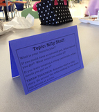 Cafeteria Conversation Starters on Table Tents