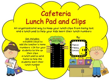 "Cafeteria Lunch Pad and ""Clip"" board"