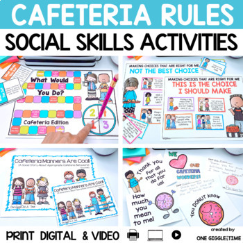 Cafeteria Manners Are Cool! (A Social Story)