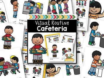 Cafeteria Routine Books Cards Posters