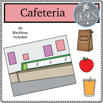 Cafeteria Scene (JB Design Clip Art for Personal or Commercial Use)