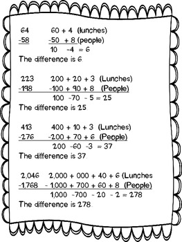 Cafeteria Subtraction Strategy: Easiest Way I've Ever Seen to Teach Regrouping