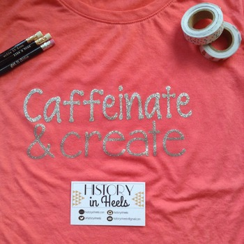 Caffeinate and Create T Shirt Size Large