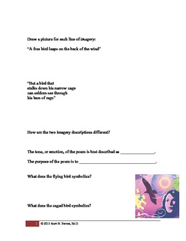 Caged Bird - Poetry Analysis (pdf format)