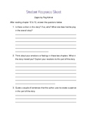 Cages by Peg Kehret student response sheet chapter 12 &13