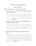 Cages by Peg Kehret student response sheet chapter 14 &15