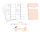 Cahier 12 Hour Daily Schedule by Hour Traveler Notebook Refill