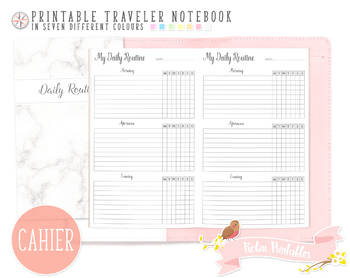 Cahier Daily Routine Traveler Notebook Refill