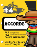 Cahier Interactif #4: Les Accords, Grammaire