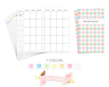 Cahier Monthly Organizer Traveler Notebook Refill