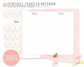 Cahier Ruled Notes Traveler Notebook Refill