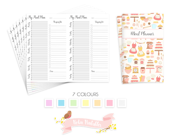 Cahier Weekly Meal Plan Traveler Notebook Refill