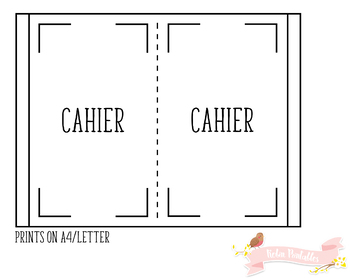 Cahier Weekly Planner Traveler Notebook Refill