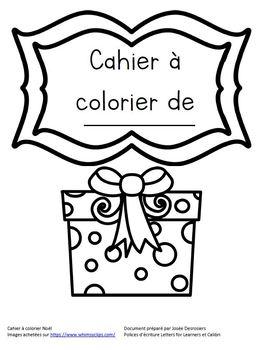 Cahier à colorier Noël, Christmas Coloring Book