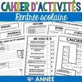 Cahier d'activités - Rentrée scolaire - 4e année