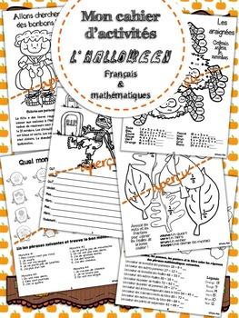 Cahier d'activités - Halloween - Français et math