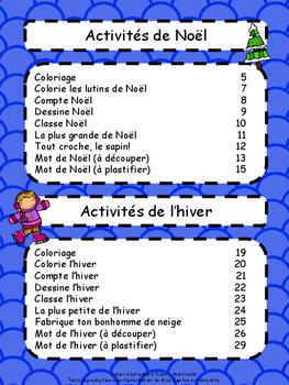 Cahier d'activités d'hiver - Maternelle