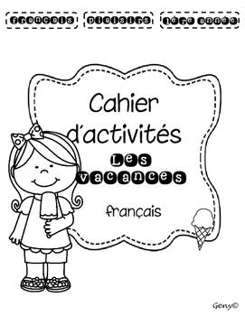 Cahier d'activités les vacances français
