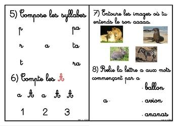 Cahier d'apprentissage de la lettre A