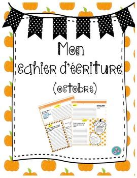 Cahier d'écriture (Octobre)