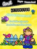 Cahier d'enrichissement - Avril