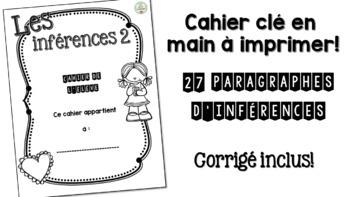Cahier d'inférences 2 - prêt à imprimer !