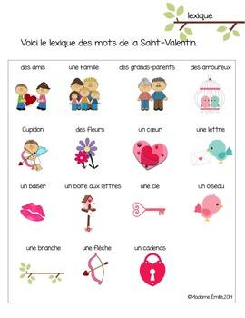 Cahier d'activités La Saint-Valentin/ French Valentine day activities printable