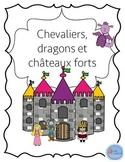 Cahier d'activités Les chevaliers/ French Knights & castles activities printable