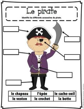 Cahier d'activités Les pirates/ French pirates activities printable