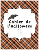 Cahier d'activités d'Halloween/ French Halloween activities printable