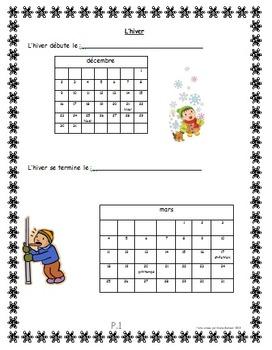 Cahier d'activités d'hiver- Winter activity booklet (French)-editable