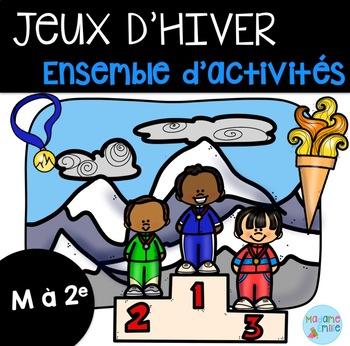 Jeux d'hiver Ensemble d'activités/French winter games activities