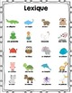 Cahier d'activités les animaux/French Animals activities printable