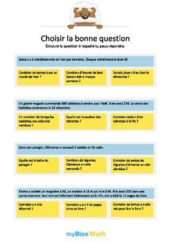 Cahier de Problèmes -Classe de CE1