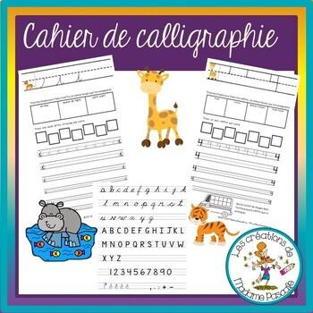 Cahier de calligraphie cursives