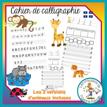 Cahier de calligraphie cursives trottoirs qc