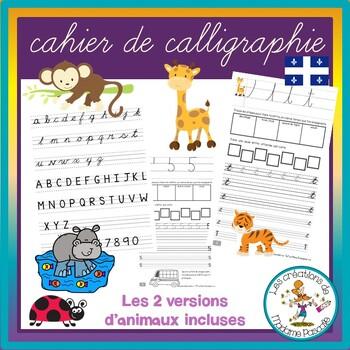 ⚜ Cahier de calligraphie cursives trottoirs qc