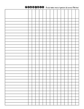 Cahier de consignation de notes