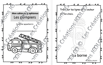 Cahier de graphismes - Pompiers