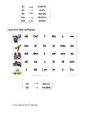 Cahier de lecture, exercices de sons