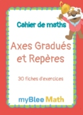 Cahier de maths - Axes Gradués et Repères - CE1 à 6ème