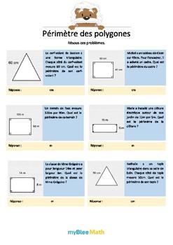 Cahier de maths - Longueurs, périmètres, aires - Classe de 6e