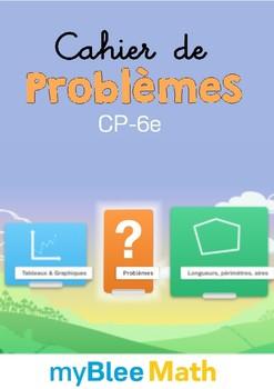 Cahier de maths - Problèmes -CP-6e