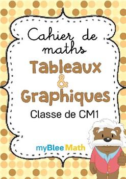 Cahier de maths - Tableaux et graphiques -CM1