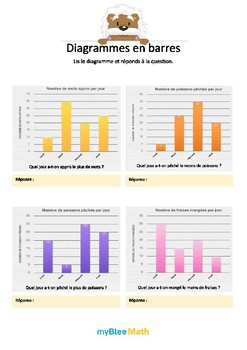 Cahier de maths - Tableaux et graphiques -CM2