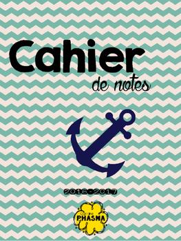 Cahier de notes thème nautique